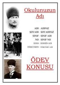 Atatürk Ödev Kapakları İndirin